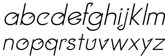 Clocker Italic Fonte MINÚSCULAS