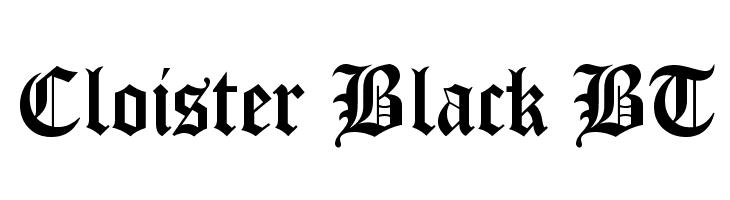 Cloister Black BT  Скачать бесплатные шрифты