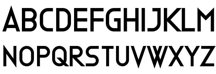 Clone Machine Font UPPERCASE
