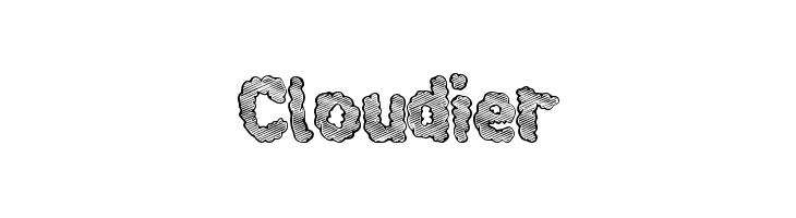 Cloudier  नि: शुल्क फ़ॉन्ट्स डाउनलोड