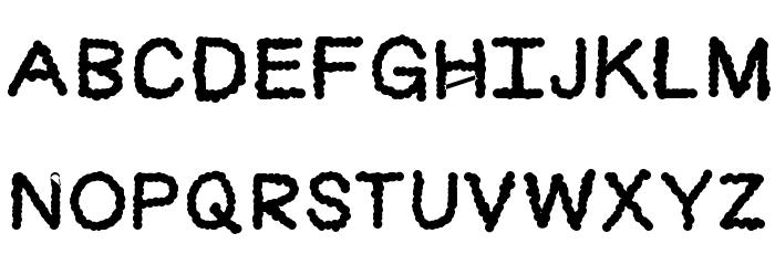 Cloudlike Font UPPERCASE