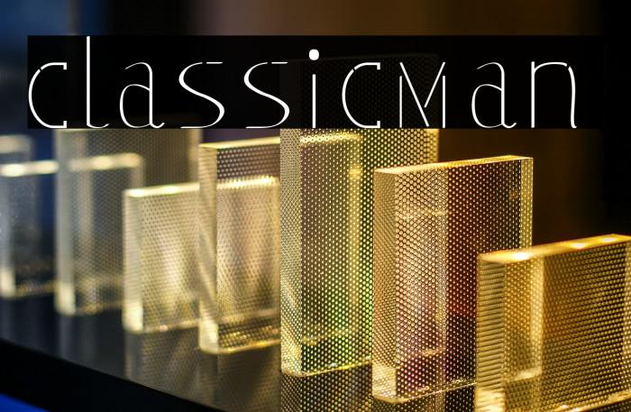 classicman Font examples