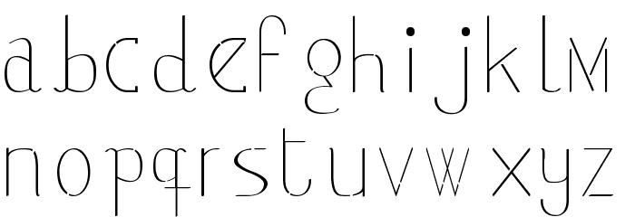 classicman フォント 小文字
