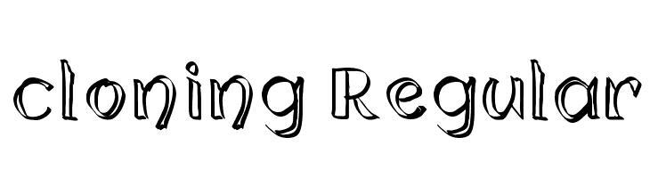 cloning Regular  font caratteri gratis