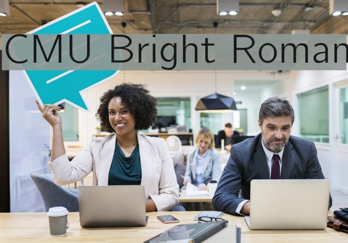 CMU Bright Roman Polices examples