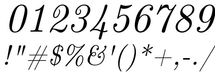CMU Classical Serif Italic Polices AUTRES CHARS