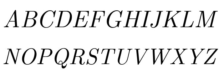 CMU Classical Serif Italic Polices MAJUSCULES