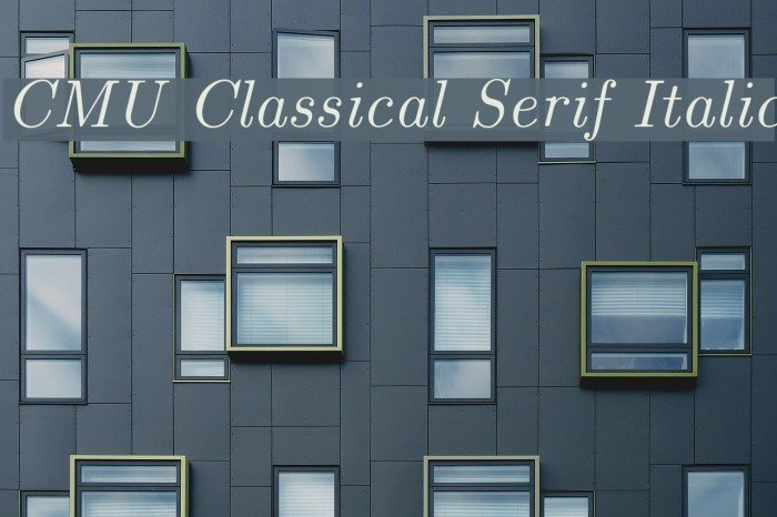CMU Classical Serif Italic Polices examples
