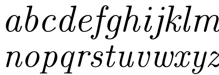 CMU Classical Serif Italic Polices MINUSCULES