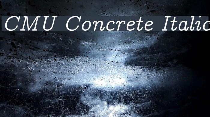 CMU Concrete Italic Polices examples