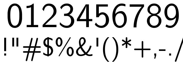 CMU Sans Serif Medium Polices AUTRES CHARS