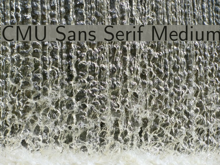 CMU Sans Serif Medium Polices examples