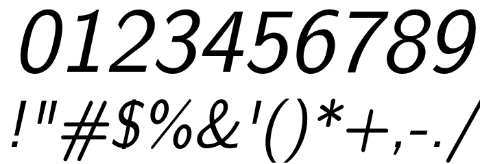 CMU Sans Serif Oblique Polices AUTRES CHARS