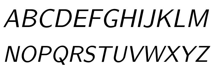 CMU Sans Serif Oblique Polices MAJUSCULES