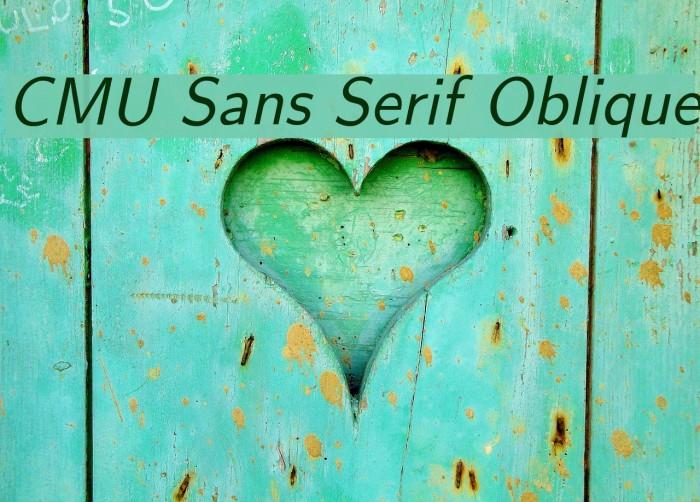 CMU Sans Serif Oblique Polices examples