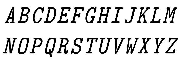 CMU Typewriter Text Italic Polices MAJUSCULES