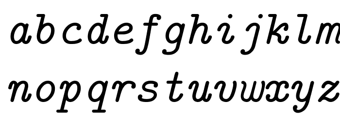 CMU Typewriter Text Italic Polices MINUSCULES