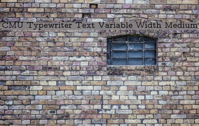 CMU Typewriter Text Variable Width Medium Polices examples