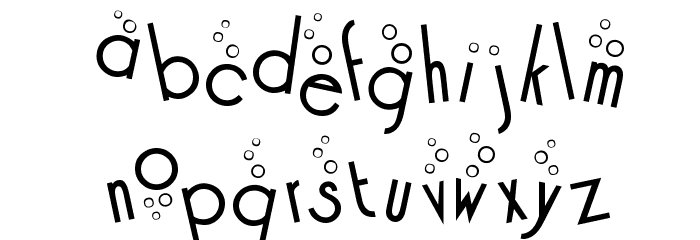 Cocktail Bubbly Font LOWERCASE