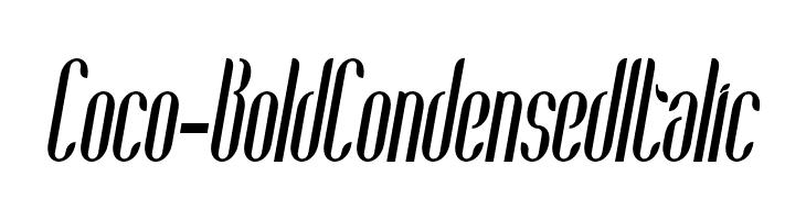 Coco-BoldCondensedItalic  baixar fontes gratis