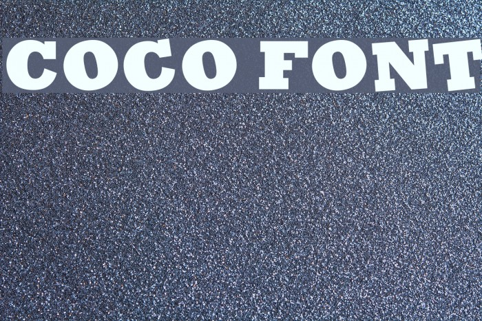 Coco Font examples