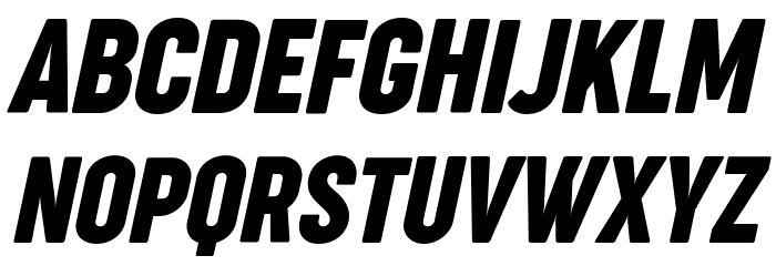Cocogoose Compressed Trial Italic Schriftart Groß