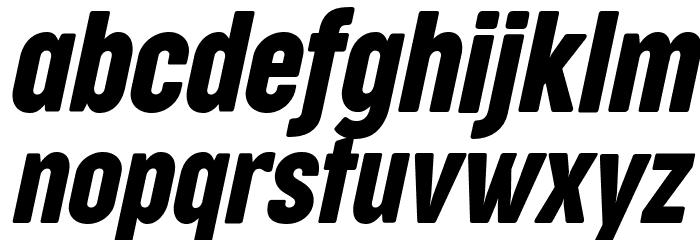 Cocogoose Compressed Trial Italic Schriftart Kleinbuchstaben