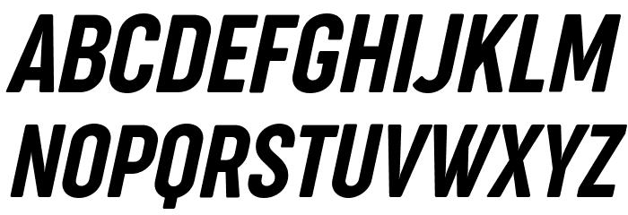 Cocogoose Compressed Trial Semilight Italic Font UPPERCASE