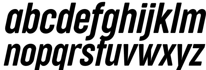 Cocogoose Compressed Trial Semilight Italic Font LOWERCASE