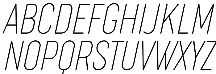 Cocogoose Compressed Trial Thin Italic Schriftart Groß