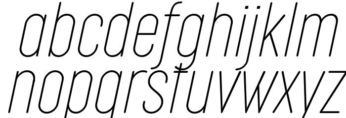 Cocogoose Compressed Trial Thin Italic Schriftart Kleinbuchstaben