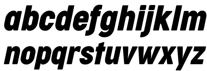 Cocogoose Condensed Trial Italic Schriftart Kleinbuchstaben