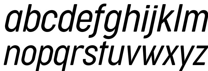 Cocogoose Condensed Trial Light Italic Schriftart Kleinbuchstaben