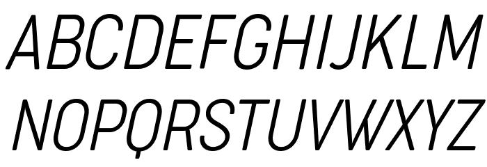 Cocogoose Condensed Trial UltraLight Italic Schriftart Groß