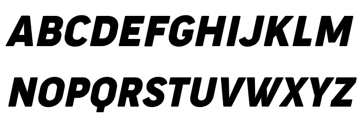 Cocogoose Narrow Trial Italic Schriftart Groß