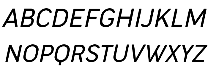 Cocogoose Narrow Trial Light Italic Schriftart Groß