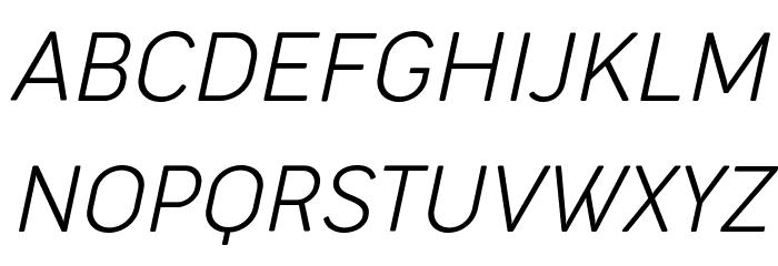 Cocogoose Narrow Trial UltraLight Italic Schriftart Groß