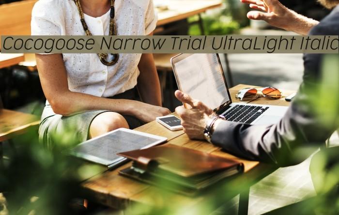 Cocogoose Narrow Trial UltraLight Italic Schriftart examples
