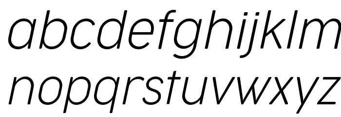 Cocogoose Narrow Trial UltraLight Italic Schriftart Kleinbuchstaben