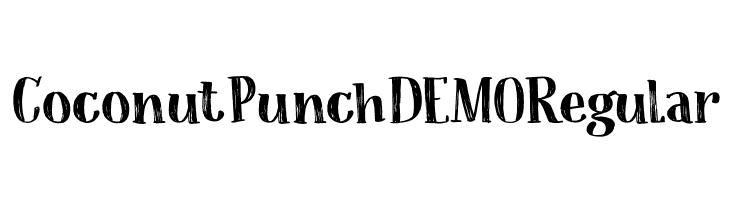 Coconut Punch DEMO Regular  les polices de caractères gratuit télécharger