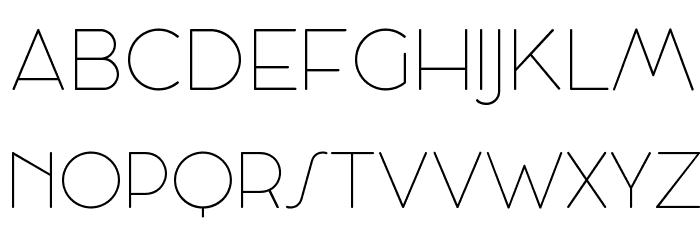 Cocosignum Maiuscoletto UltraLight Schriftart Groß