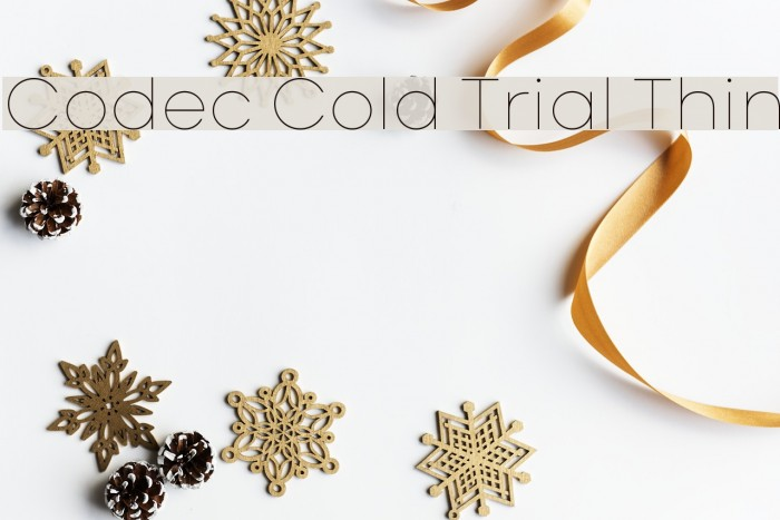 Codec Cold Trial Thin Schriftart examples