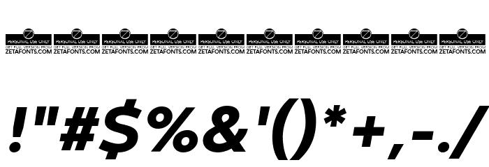 Codec Warm Trial ExtraBold Italic Schriftart Anderer Schreiben
