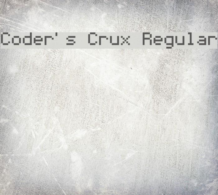 Coder's Crux Regular Fonte examples