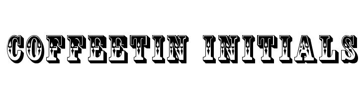 CoffeeTin Initials  Free Fonts Download