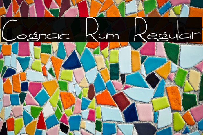 Cognac Rum Regular Fonte examples