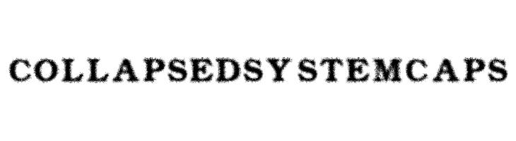 Collapsed System CAPS  Скачать бесплатные шрифты