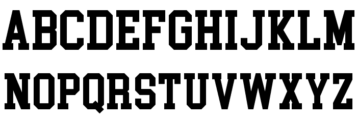 College Block Font LOWERCASE