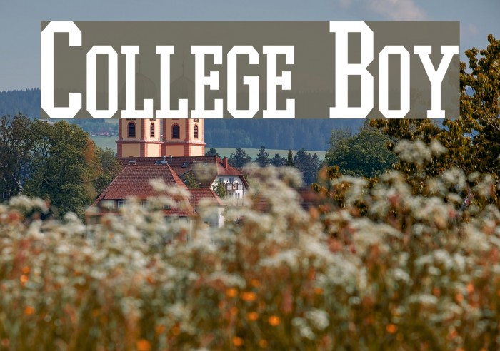 College Boy Font examples