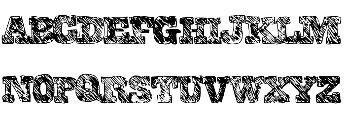 CollegeScribble Font UPPERCASE